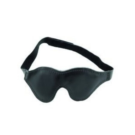 Classic Leather Blindfold, Padded Fabric Lining