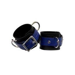 Fleece-Lined Cuffs, Locking Buckle, Black/Blue