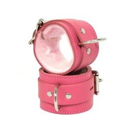 Kookie Fleece-Lined Cuffs, Locking Buckle, Pink