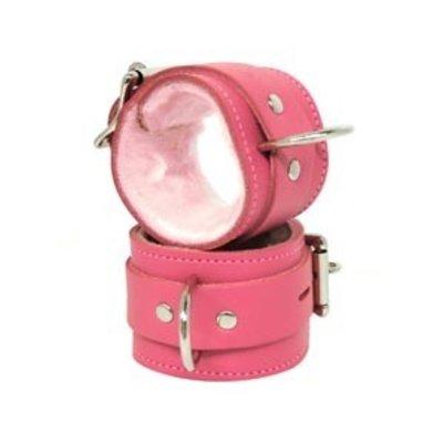 Kookie Fleece-Lined Cuffs, Locking Buckle, Pink