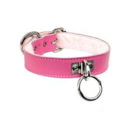 Slimline Collar with Fleece Lining, Pink