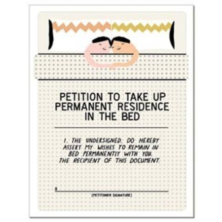 Laura Berger Bed Petition Greeting Card