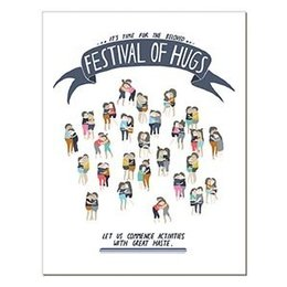 Laura Berger Festival of Hugs Greeting Card