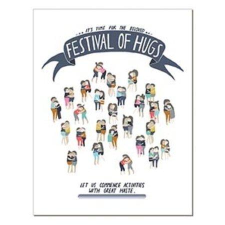 Laura Berger Festival of Hugs Greeting Card