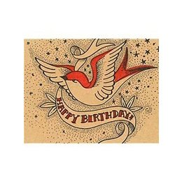 Happy Birthday Swallow Greeting Card