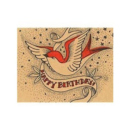 Happy Birthday Swallow Greeting Card