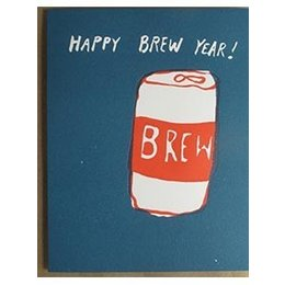 Egg Press Happy Brew Year Greeting Card
