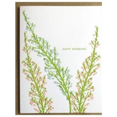 Egg Press Happy Wedding Heather Greeting Card