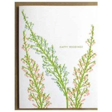 Happy Wedding Heather Greeting Card