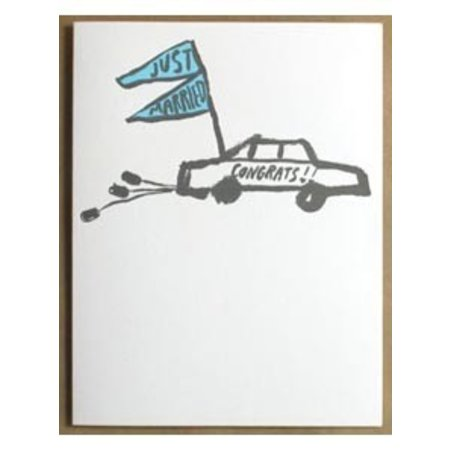 Just Married Congrats Greeting Card
