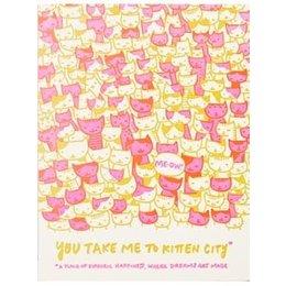 HelloLucky Kitten City Greeting Card