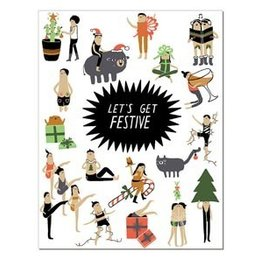 Laura Berger Let's Get Festive Greeting Card