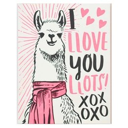Llama Love Greeting Card