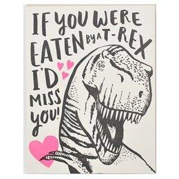 HelloLucky T-Rex Love Greeting Card