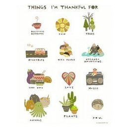 Laura Berger Things I'm Thankful For Greeting Card
