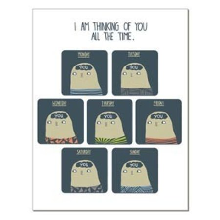 Thinking of You All The Time Greeting Card