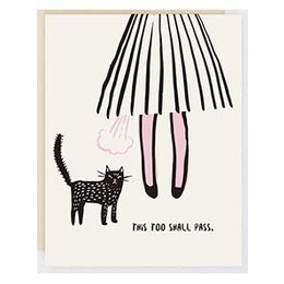 HelloLucky This Too Shall Pass Greeting Card