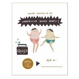 Underwear Dance Party Greeting Card