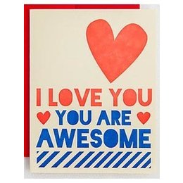HelloLucky You Are Awesome Greeting Card