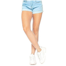 Leg Avenue Spandex Industrial Net Pantyhose 9003, White