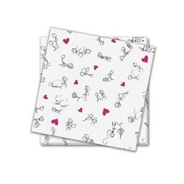 Candyprints Dirty Dishes Naughty Stick Figure Napkins