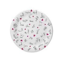 Candyprints Dirty Dishes Naughty Stick Figure Plates