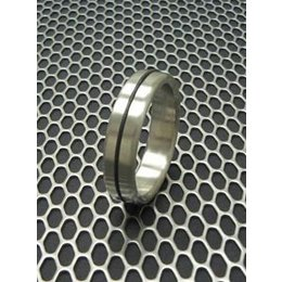 Designer Stainless Cock Ring with Accent