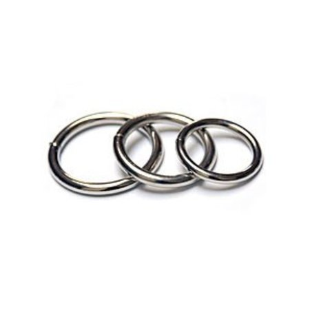 Steel Cock Rings 3-pack, Nickel Plated