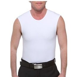 Underworks Cotton Concealer Muscle Shirt Binder 974- John Henry, White