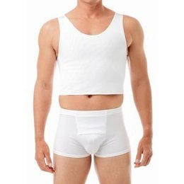 Underworks Econo Compression Chest Binder Top 943- Clayton, White