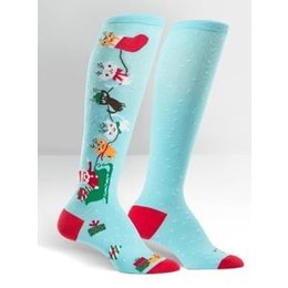 Sock It To Me Jingle Cats Knee Socks