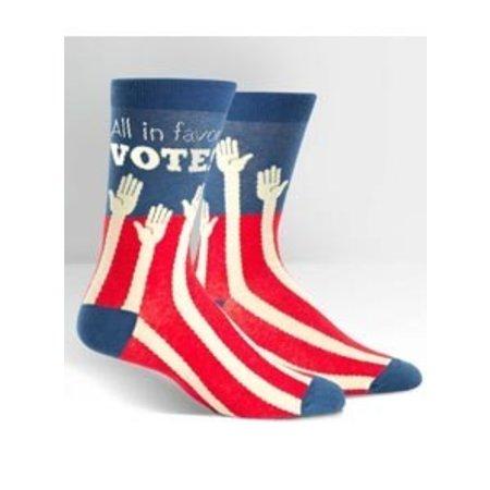 Sock The Vote Crew Socks Large