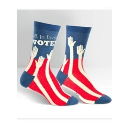 Sock The Vote Crew Socks Small