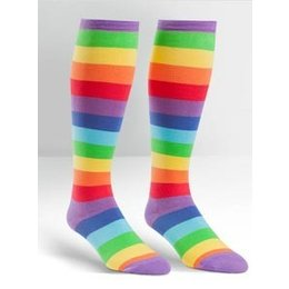 Sock It To Me Super Juicy Rainbow Wide-Calf Knee Socks