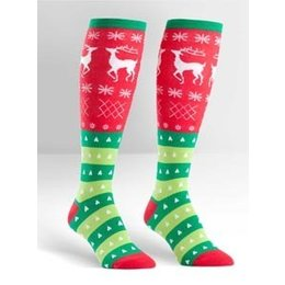 Sock It To Me Tacky Holiday Sweater Knee Socks