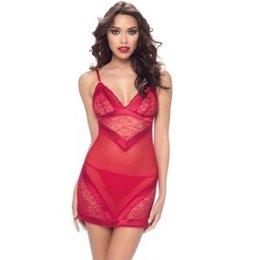Elisa Babydoll 74-10069, Deep Red