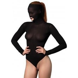 Leg Avenue Opaque Masked Teddy with Stimulating Beaded G-String KI4014
