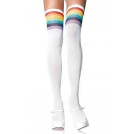 Leg Avenue Over the Rainbow Opaque Thigh Highs 6612