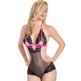 Oh La La Cheri Teddy with Lace and Cutout Detail 52-10104