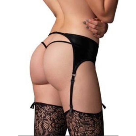 Leg Avenue Wet Look Garter Belt 2902