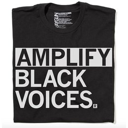 Raygun Amplify Black Voices T-shirt, Clasic Cut
