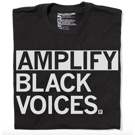 Raygun Amplify Black Voices T-shirt, Clasic Cut