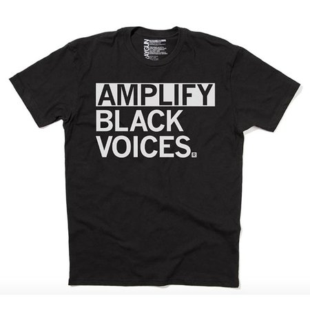 Amplify Black Voices T-shirt, Clasic Cut