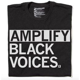 Amplify Black Voices T-shirt, Hourglass Cut