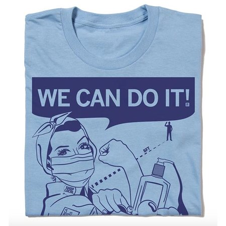 Raygun We Can Do It Fighting COVID-19 T-shirt, Classic Cut