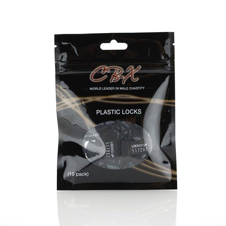 CB-X Plastic Locks for Chastity Cage Devices, 10-pack