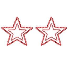 Bijoux Indiscrets Mimi Rhinestone Star Pasties, Red