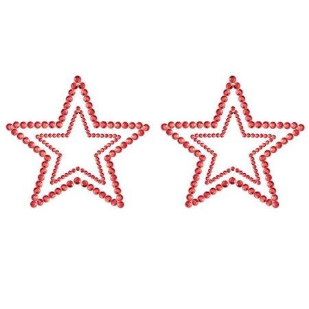 Bijoux Indiscrets Bijoux Indiscrets Mimi Rhinestone Star Pasties, Red