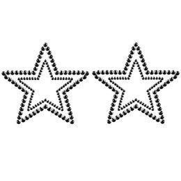 Bijoux Indiscrets Bijoux Indiscrets Mimi Rhinestone Star Pasties, Black