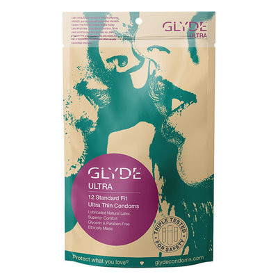 Glyde Ultra Standard Fit Condoms, 12-pack